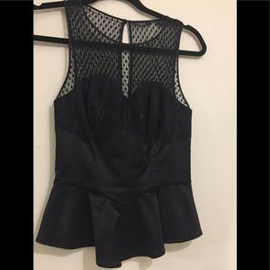 Guess Elegant and sexy black peplum top xs🌟